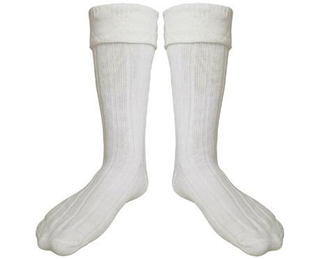 scottish irish off white kilt hose socks men size medium. Black Bedroom Furniture Sets. Home Design Ideas