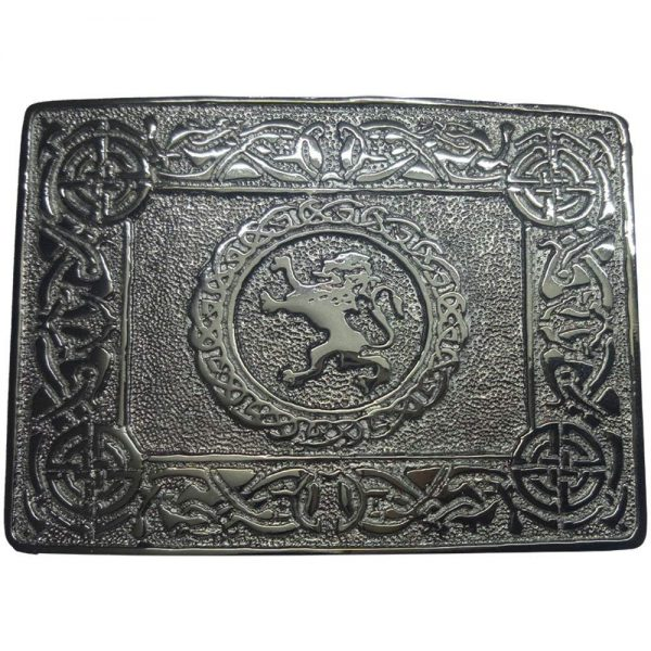 Celtic Circle Thistle Kilt Belt Silver Buckle