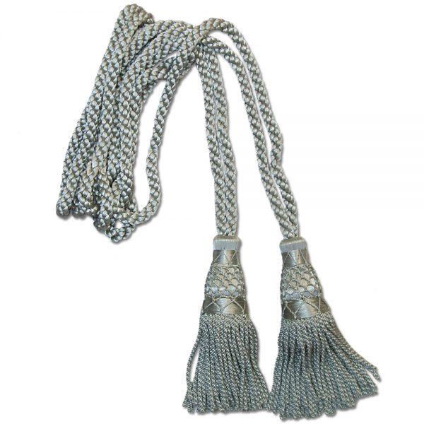 Silver silk cord