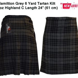 hamiltion Grey tartan Front back